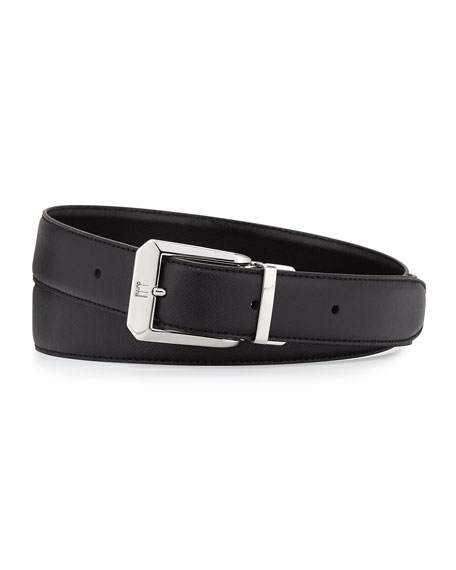 Belt with Faceted Buckle