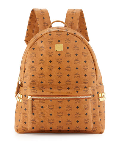 Visetos Side-Studded Backpack, Cognac