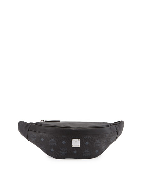 MCM Color Visetos Fanny Pack, Black