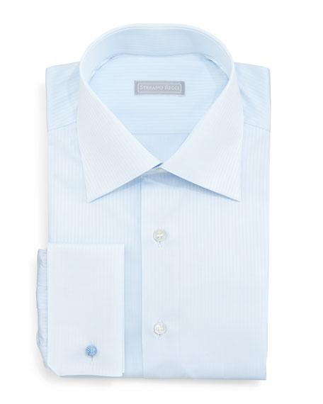 Stefano Ricci Tonal-Stripe Dress Shirt, Light Blue