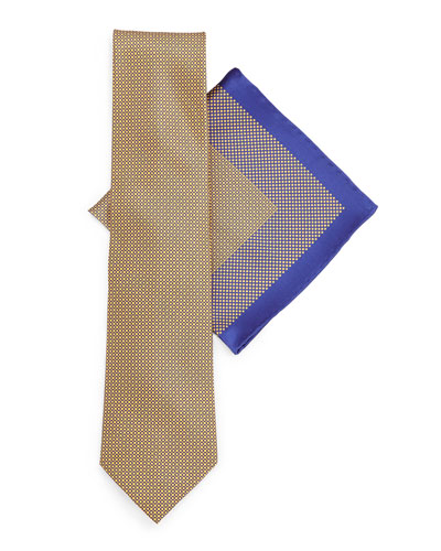 Silk Tie & Pocket Square Set, Yellow