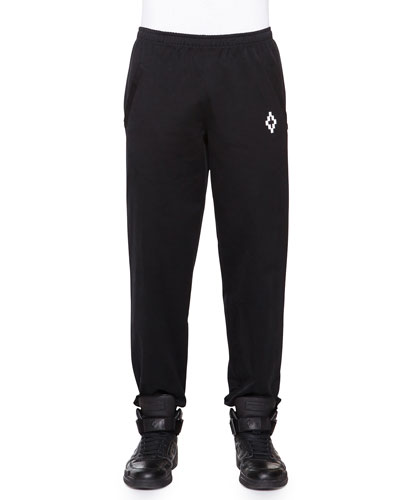 Knit Sweatpants with Pockets, Black