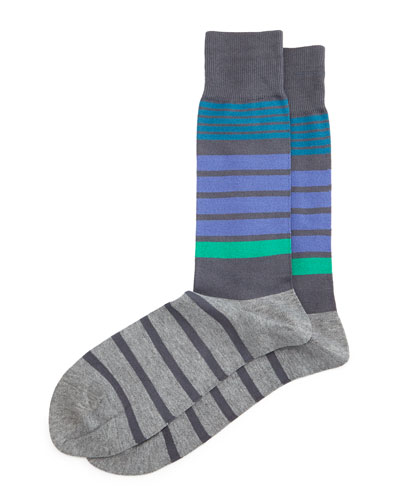 Jack Striped Socks, Gray