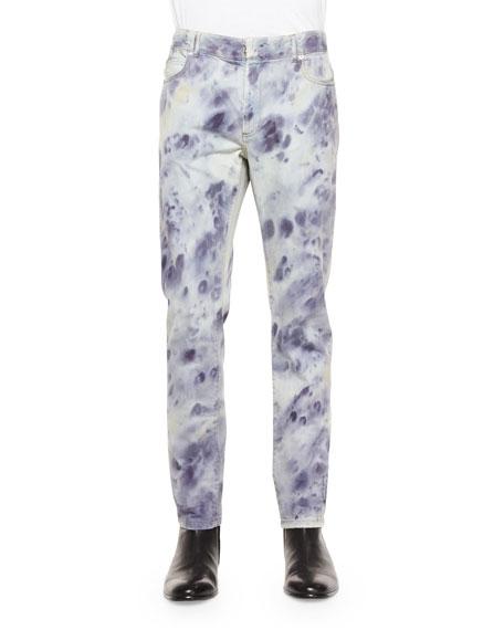 Maison Margiela Bleached Slim-Fit Denim Jeans, Indigo