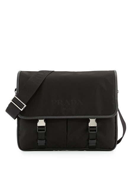 Prada Large Nylon Messenger Bag 46