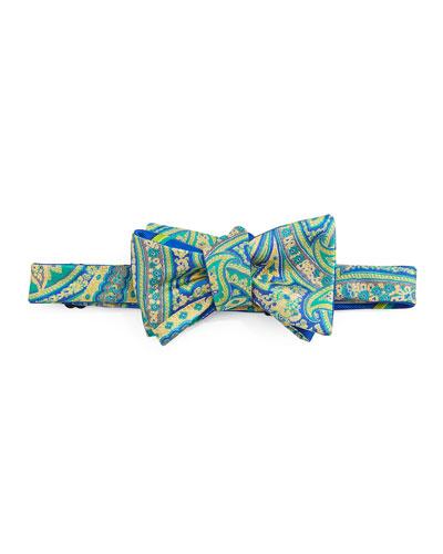 Paisley Bow Tie, Green