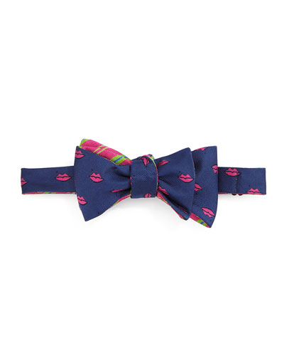 Lips Bow Tie, Navy