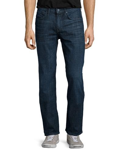 Luxe Performance: Carson Triumph Jeans, Dark Blue