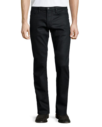 Bowery Slim-Fit Denim Jeans, Black