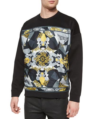 Graphic Crewneck Sweatshirt, Black
