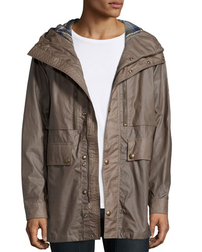 Wilkes Hooded Parka Jacket, Bay Leaf