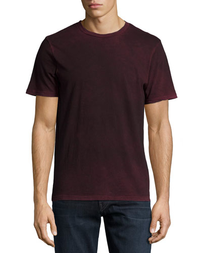 Fleming Short-Sleeve Cotton Tee, Dark Red
