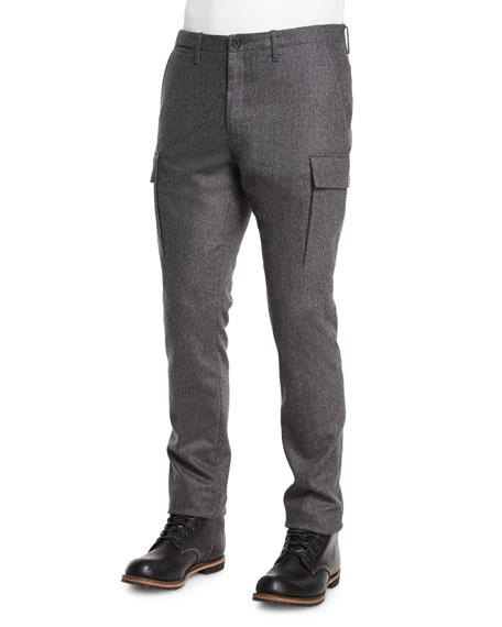 Michael Kors Cashmere-Blend Cargo Pants, Charcoal