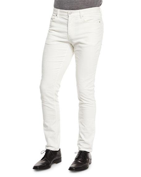 Michael Kors Five-Pocket Slim-Fit Pants, Cream
