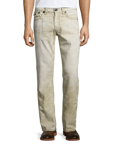 Ricky Recycled Slim Denim Jeans, Khaki