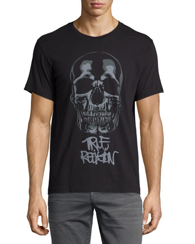Skull-Graphic Short-Sleeve Tee, Black