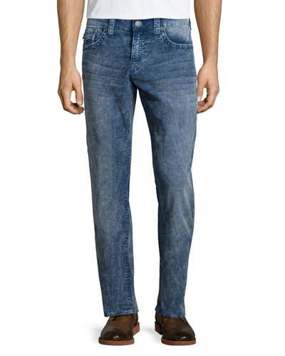 Geno Acid-Wash Denim Jeans, Blue