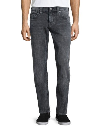 Geno Acid-Wash Denim Jeans, Gray