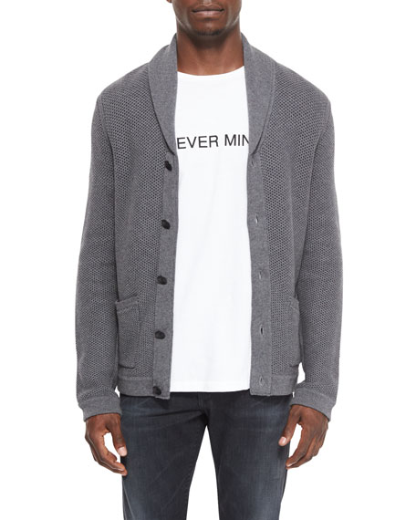 Rag & BoneAvery Shawl-Collar Knit Cardigan, Charcoal