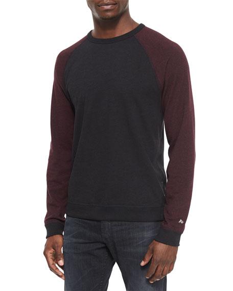 Rag & Bone Raglan Long-Sleeve Shirt, Dark Red