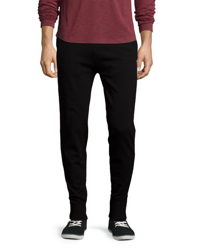Elk J Knit Jogger Sweatpants, Black