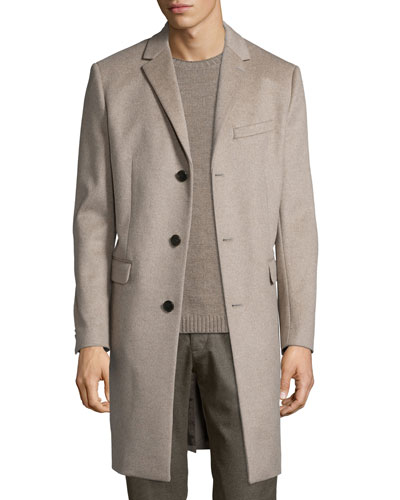 Wellardon Three-Button Car Coat, Tan