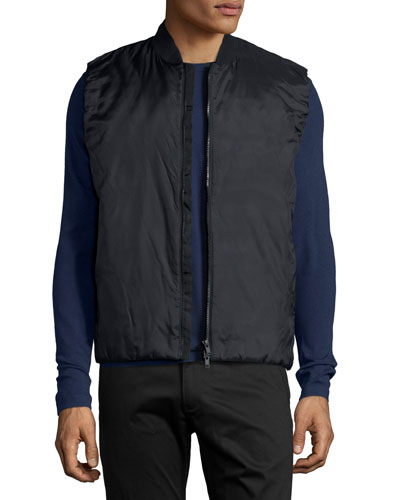 Jalt Nylon Puffer Vest, Black