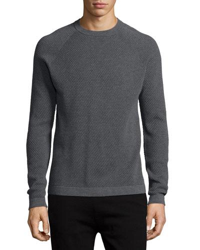 Ednae Textured Crewneck Sweatshirt, Gray