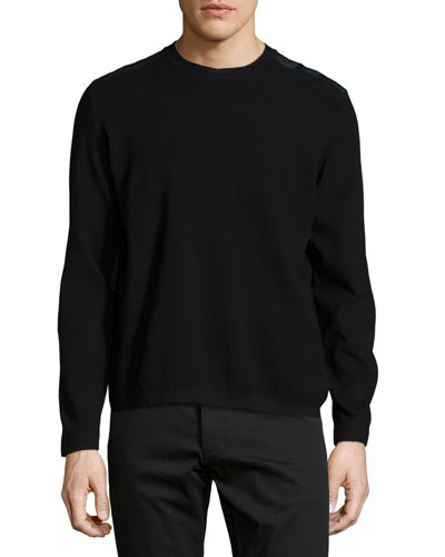 Nordan Mixed-Media Sweater, Black