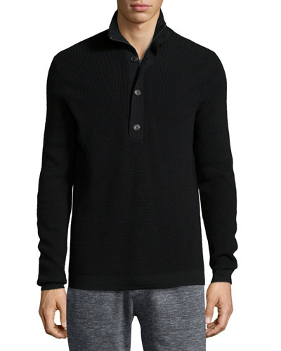 Villen Mock-Neck Sweater, Black