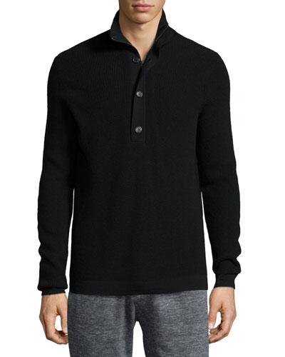 Villen Mock-Neck Sweater, Black