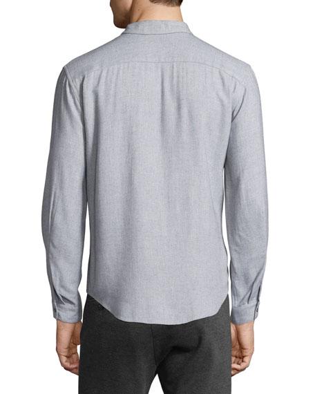 Utility-Pocket Long-Sleeve Shirt, Light Gray