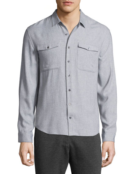 ATM Anthony Thomas Melillo Utility-Pocket Long-Sleeve Shirt,