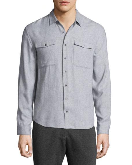ATM Anthony Thomas Melillo Utility-Pocket Long-Sleeve Shirt,