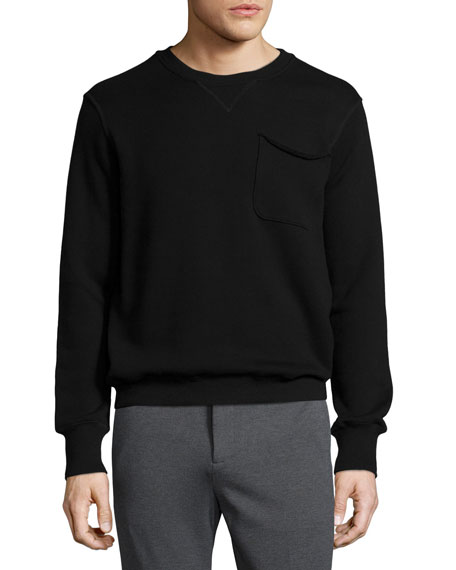 ATM Anthony Thomas Melillo Crewneck Sweatshirt with Pocket,