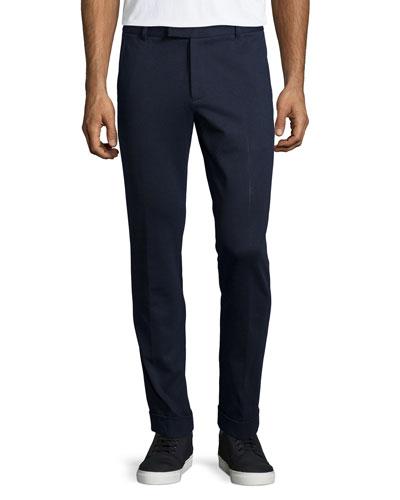 Slim Ponte Pants, Navy