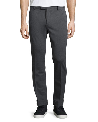 Stretch-Knit Pants, Charcoal
