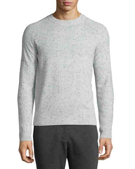 ATM Donegal Cashmere Crewneck Sweater, Dark Gray