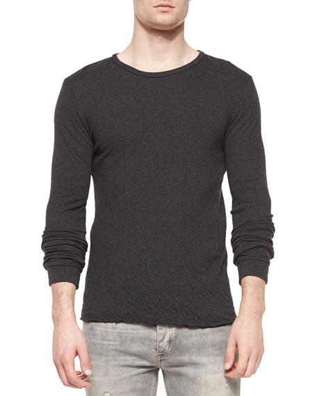 IRO Cobra Long-Sleeve Knit T-Shirt, Dark Gray