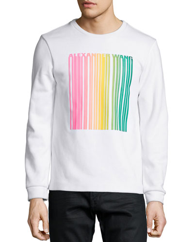 Barcode Logo Sweatshirt, White