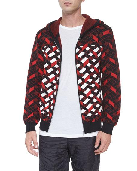 Alexander Wang Fair Isle Jacquard Stripe Zip Jacket,