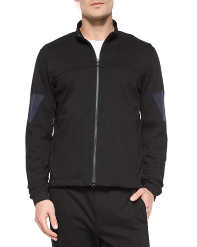 Full-Zip Track Jacket, Black