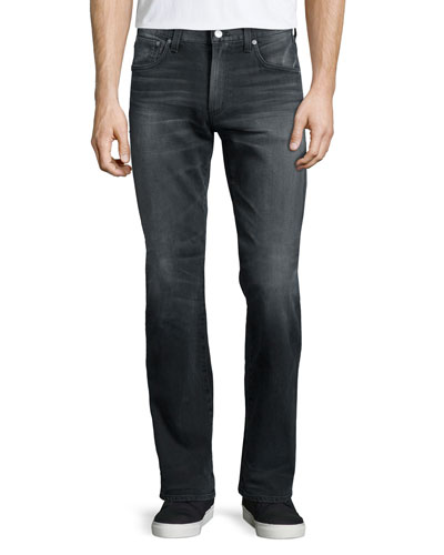 Sid Lyric Straight-Leg Jeans, Gray