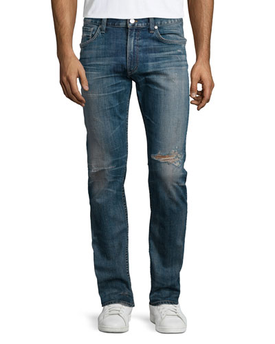 Bowery Slim Distressed Jeans, Homer Indigo