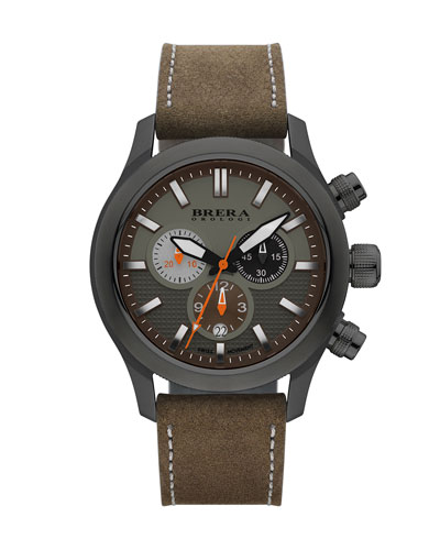Eterno Chronograph Watch, Green/Brown