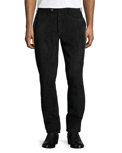 NanoLuxe Corduroy Pants, Black