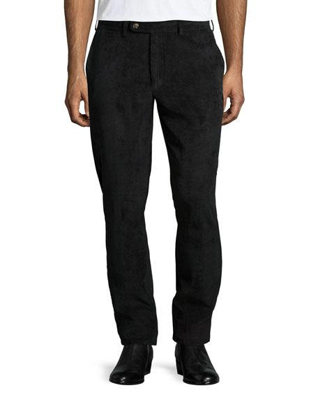 Peter Millar NanoLuxe Corduroy Pants, Black