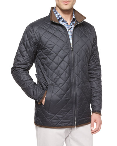 Chesapeake Lightweight Quilted Jacket, Black