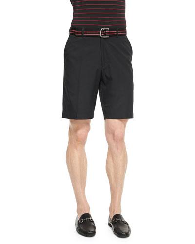 Salem High-Drape Performance Shorts, Black