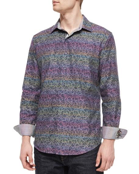 Robert Graham Loch Ness Printed Sport Shirt, Multicolor